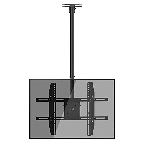 """TV Deckenhalterung, für 22-75\"""" Zoll Flach & Curved Fernseher bis zu 50kg, max.VESA 600x400mm Schwenkbare Neigbare Höhenverstellbare Halterung an Flachdach oder Dachschrägen"""