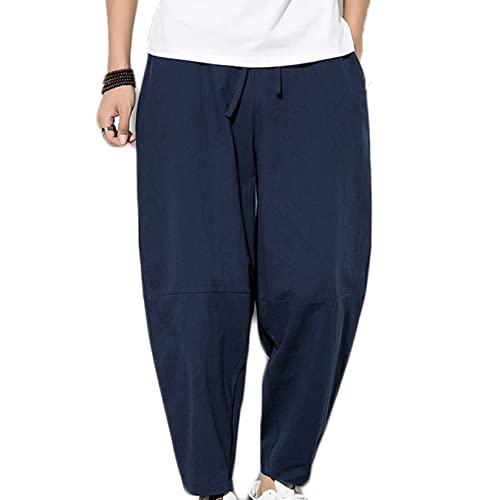 Feidaeu Pantaloni Casual da Uomo Pantaloni da Jogging Morbidi e Comodi da Indossare Pantaloni Harem Pantaloni Larghi con Coulisse in Tinta Unita