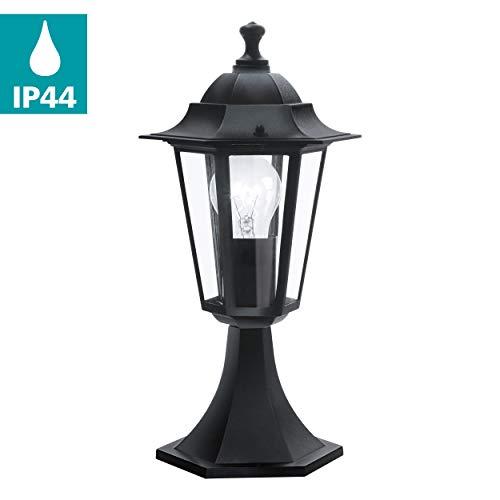 Eglo Lámpara Sobremuro Linterna 4 E27, 60 W, Negro, 3 x 19.5 x 19.5 cm
