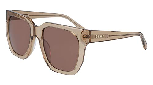 DONNA KARAN EYEWAR Womens DK513S Sunglasses, CRYSTAL CAMEL, 53mm, 20mm, 135mm