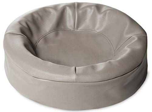 Bia kunstleer hoes hondenmand 0 50x50x12cm rond TAUPE