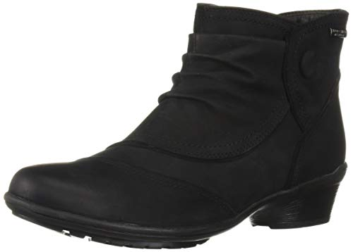 Rockport Raven Button Boot, Bottine Femme, Black Nubuck Waterproof, 37.5 EU