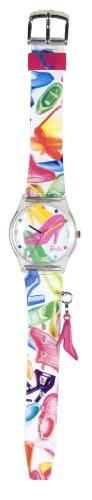 Barbie Mädchen-Armbanduhr Analog Plastik Mehrfarbig 25092