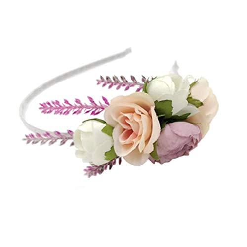 Demarkt Kunstbloemenhoofdband, haarsieraad, haarband, hoofdbedekking, kleine frisse handgemaakte kunstbloemen hoofdband Wit 12 cm.