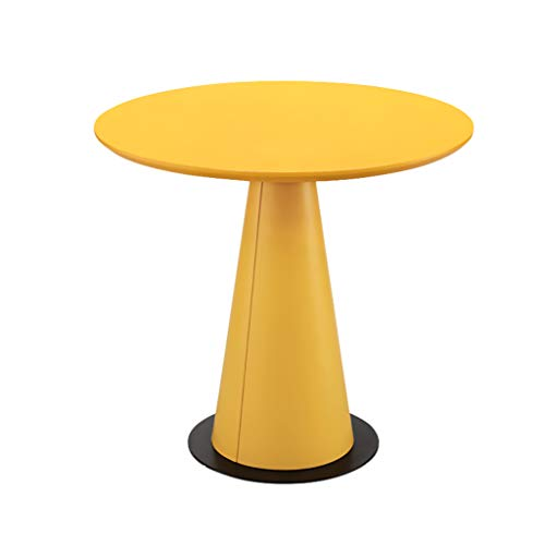 Yxsd Wooden Round Sofa Table, Coffee Table Round Table Sofa Table Small Apartment Living Room Balcony Coffee Table (Color : Yellow, Size : 60 * 45cm)
