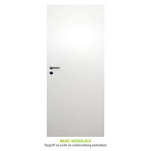 HORI® Zimmertür I Innentüre passend für alle Standard-Zargen mit DIN Größe I 1985 x 610 mm I DIN Rechts
