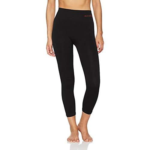 Sundried Donne Ritagliata Leggings 3/4 di Capri Tights Yoga Esecuzione Gym Training (Nero, S)