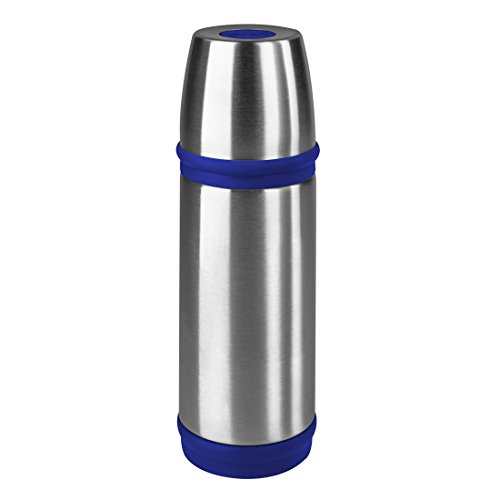 Emsa Captain - Termo de Acero Inoxidable (0,35 L), Color Plateado, y Azul