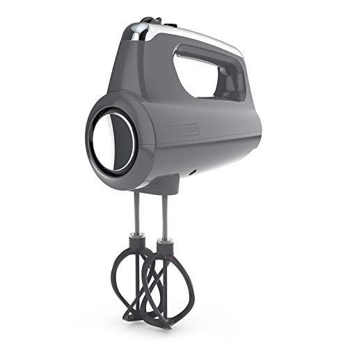 Black+Decker Helix Performance Premium Hand, 5-Speed Mixer, Grey, 5 Attachments + Case