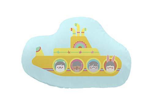 Pooch kussen Lonely Band Submarine, 100% katoen, meerkleurig, 48 x 40