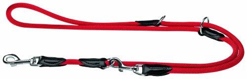 HUNTER Freestyle Verstellbare Führleine für Hunde, robust, wetterfest, 1,0/200 cm, rot