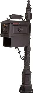 Victorian Barcelona Decorative Cast Aluminum Better Box Mailbox with Paper Box Black