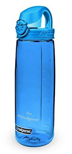 Nalgene Trinkflasche 'Everyday OTF' - 0,65 L (blau, mit Namensgravur, 0,65 l)