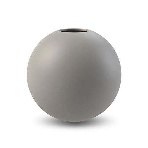 Jarrón de diseño Cooee., cerámica, Gris, Ø 10CM