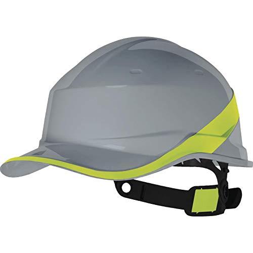 Deltaplus DIAM5GRJAFL Form Baseball Industrieschutzhelm, Grau-Gelb, Größe Einstellbar