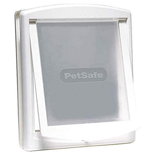 PetSafe Original Staywell - Puerta para Perros Medianos y Gatos - Entrada y Salida - Puerta para Mascotas con Panel de Cierre Incluido - Blanco - M