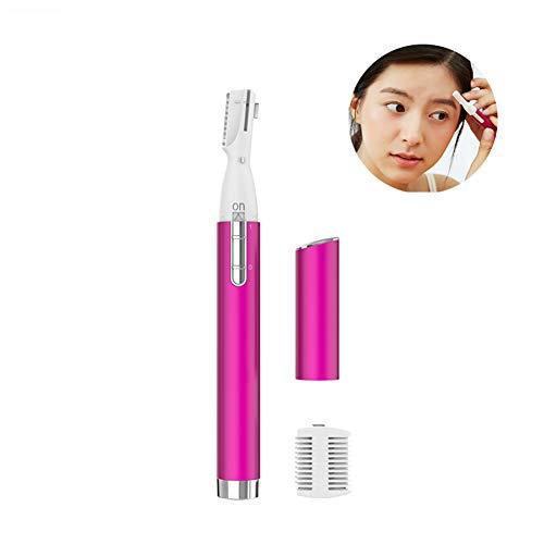 Belle Épilateur indolore électrique de Trimmer de sourcil de solvant de Cheveux de sourcil pour Les Femmes Portable Rasoir d'épilation de sourcil,Pink
