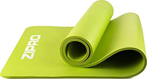 Tappetino per esercizi ZIPRO, tappetino da yoga, tappetino da yoga imbottito antiscivolo per ginnastica fitness pilates con tracolla, 10mm, verde