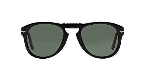 Persol Icons Occhiali da Sole, Nero (Black/Grey Green), 54 Unisex-Adulto