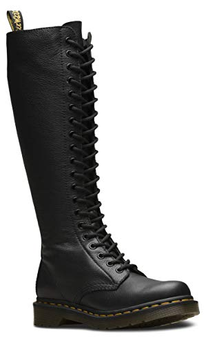 Dr. Martens - Women's 1B60 20-Eye Lace Up Knee High Leather Boot, Black, 9 US Women