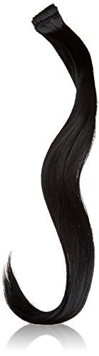 BiYa Hair Elements Thermatt Clip In Hair Extensions Straight Highlights, Jet Black Number 1 20-inch/