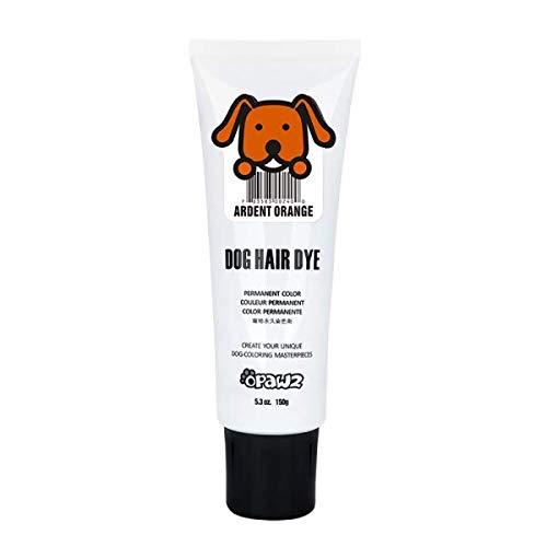 Dog Hair DYE Gel (Orange) Bright, Fun Shade, Semi-Permanent, Completely Non-Toxic Safe