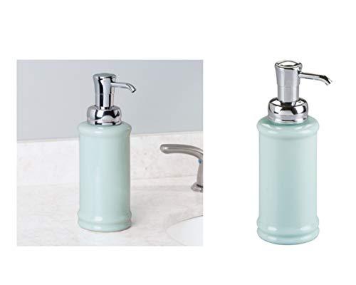Price comparison product image iDesign Bathroom Vanities Hamilton Soap Dispenser Pump for Kitchen,  Ceramic,  Mint / Chrome