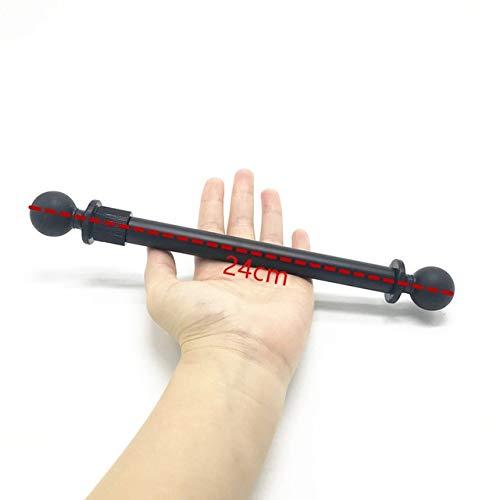 FUQUANDIAN Brazo de extensión Kit de Montaje del Brazo extendido Kayak Doble con 1 '' Pulgadas Rubber Ball for Ram Mounts for Sony for cámaras de acción Gopro Accesorios de Soporte (Color : Kit 2)
