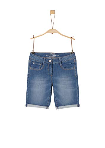 s.Oliver Mädchen Regular Fit: Jeans-Bermuda blue stretched den 164.REG