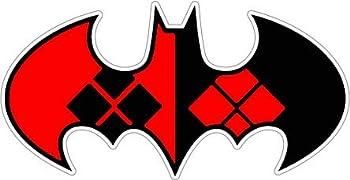 Harley Quinn Joker 6  x 3  - Car Laptop Decal Window Car Bodies,Motorcycles Helmets Boats Mailboxes Laptops Skateboard Guitars Trailers