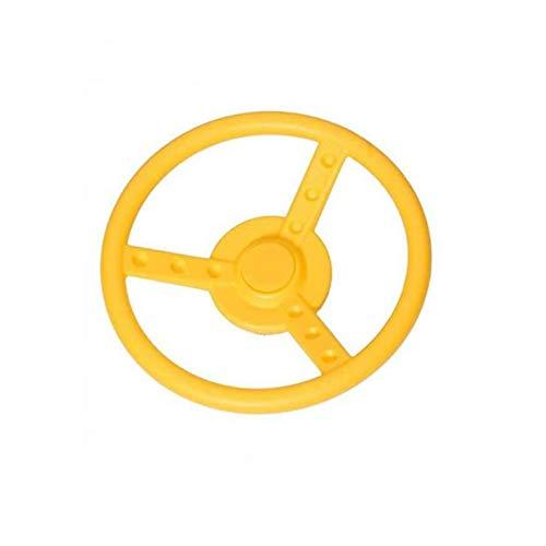 1 Stück h2i Lenkrad beweglich in Gelb für Kinder Spielturm