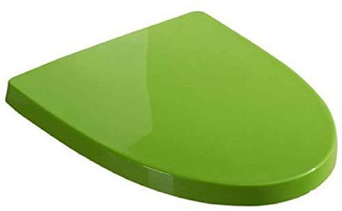 PanYFDD WC-deksel WC-bril voor U WC universele wc-bril met verstelbare lengte Mute Easy Soft langzaam sluiten Quick Release, groen, rood installeren vorm badkamer, familie, wassen
