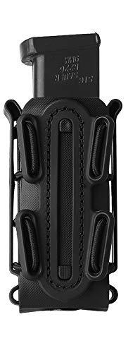 KRYDEX 9mm Pistol Mag Pouch Softshell Magazine Pouch Tactical Magazine Holder Tall (Black)