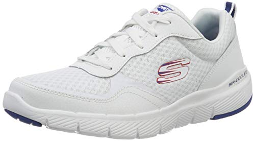 Skechers FLEX ADVANTAGE 3.0 Men's Low-Top Trainers, White (White Black Wbl), 11 UK (46 EU)