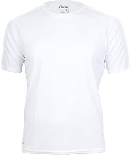 Basic Funktions - Sport T-Shirt in vielen Farben Farbe White Größe L