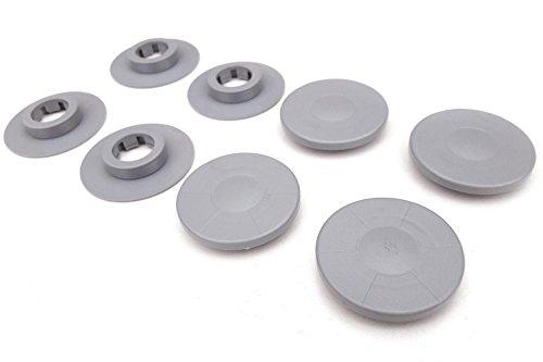 kh Teile Fußmatten Befestigung (4-teilig, grau) / Automatten Halter Clips