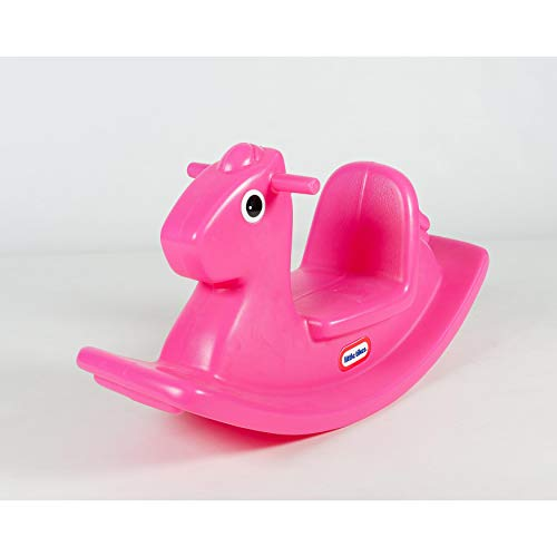 Little Tikes Rocking Horse. Toddler Rocking Toy With Easy Grip Handles and Stable Saddle. Durable, Stable, Kid-Safe Toy For Indoor or Outdoor. Magenta Rocking Horse For Kids Aged 18 Months +