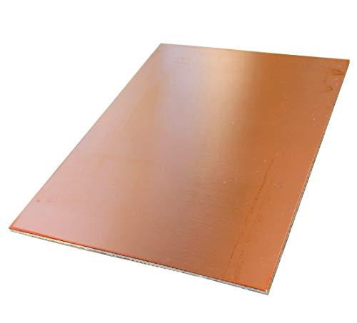 Preisvergleich Produktbild AERZETIX: Platte Brett Blatt in Kupfer für Leiterplatte 100 / 75 / ; 70µm Kunstharz Epoxidharz Fiberglas C40704