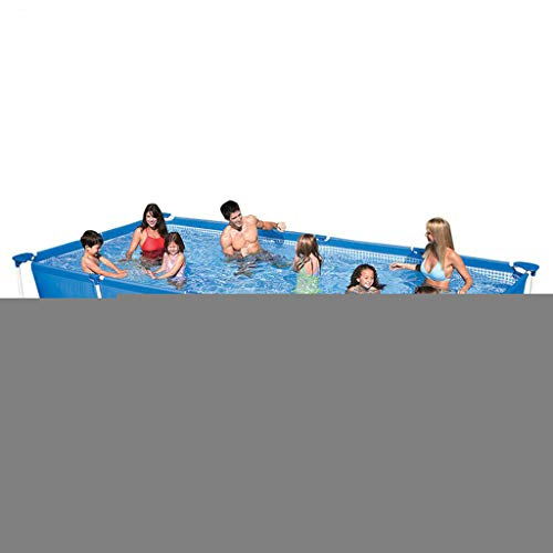 JXCC Piscinas Hinchables Rectángulo Bracket Swimming Pool Bracket Bracket Pool Home Incremento Adultos Mobile Piscina -Vida De Servicio Blue-260 * 160 * 65cm