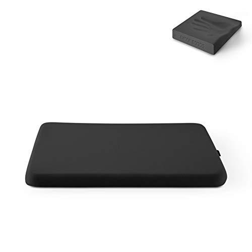 JZLMF Seat Pads Enhanced Seat Cushion Non-Slip Orthopedic Gel & Memory Foam Coccyx Cushions for Tailbone Pain chair (Color : Bling-Black, Size : 39x39cm)