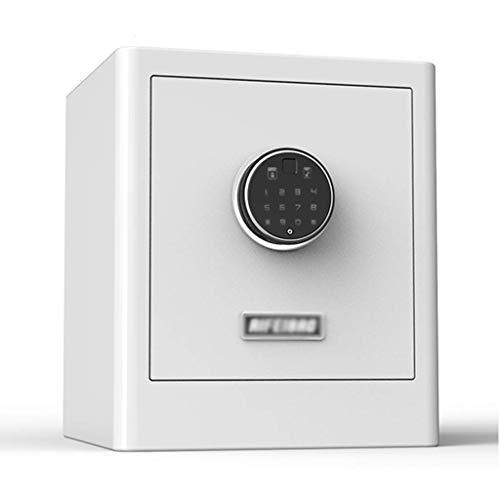 XiYou Caja Fuerte de Seguridad, hogar con Huella Dactilar Invisible Mediana, depósito de contraseña, antirrobo, pequeño (Negro, 35 * 28 * 25 cm)