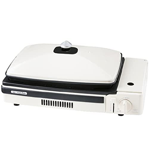 LZL Estufa de butano portátil 7,000 BTU Cocinar Utensilios de Cocina Gas quemadores para mochileros al Aire Libre Senderismo Horno de Campamento Potente Calor (Color : White)
