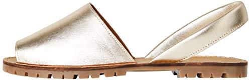 FIND Menorcan Leather Sandali a Punta Aperta, Oro (Gold), 36 EU