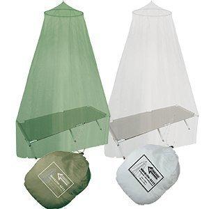 Commando Industries Outdoor moustiquaire Simple ou lit Double Super léger Couleur Blanc ou Vert Olive Blanc Blanc