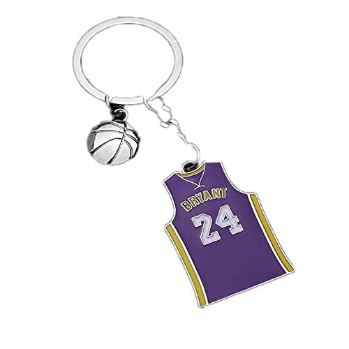 JKDFGJ Mujer hombre baloncesto favorito llavero acrílico llaveros anillo encanto llaveros llavero regalo
