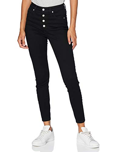 Calvin Klein Jeans Damen High Rise Super Ankle Skinny Jeans, Schwarz (DA091 CLEAN BLACK SHANK 1BY), 26NI