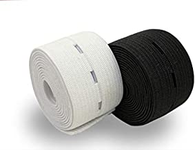 3/4-Inch 6.6-Yards Buttonhole Knit Stretch Elastic White and Black 2 Pack 3.3Yds Each Color