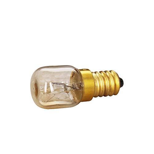 Othmro E14 - Bombillas de latón para microondas (15 W, 22 x 55 mm, 1 unidad, luz incandescente, luz blanca cálida, ángulo de haz de 360°, 2700 K, 220 – 240 V)