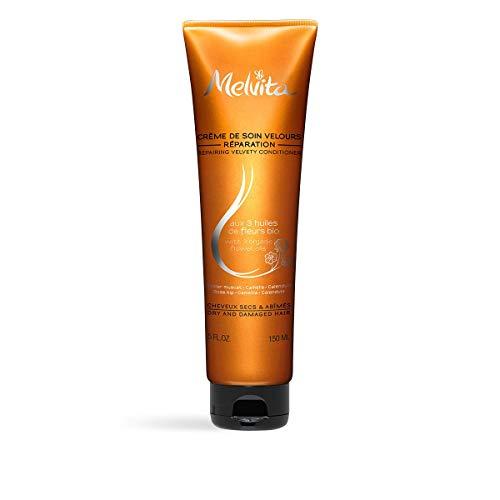Melvita - Après Shampoing réparation Capillaires Experts - Soin Expert pour des Cheveux Nourris, Démêlés et Sublimés - Vegan, Biodégradable - Huiles Bios et Beurre de Karité - Tube 150ml