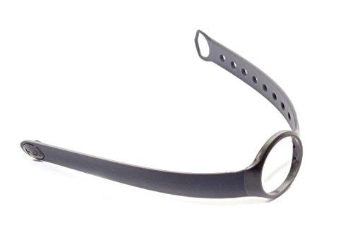 vhbw TPE Ersatz Armband L 25.5 cm passend für Misfit Flash Fitness Uhr, Smart Watch - dunkelgrau